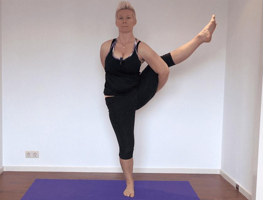 Vinyasa Yoga Extended Hand to Big Toe Pose 45 min